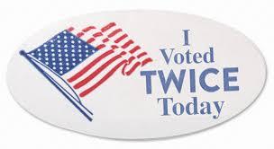 I Voted Twice Today Sticker